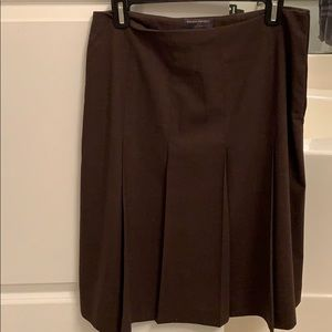 Wool pleated brown banana republic skirt